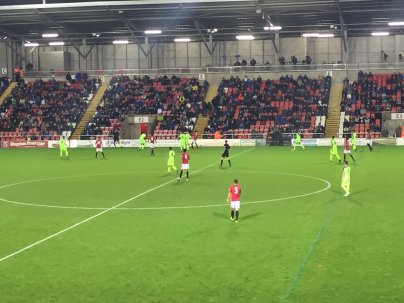 A supporter's view at Leigh Sports Village | Photo: @Doon1976/Twitter